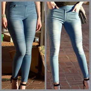 NEW! MOTO JEANS HIGH WAISTED PULL ON